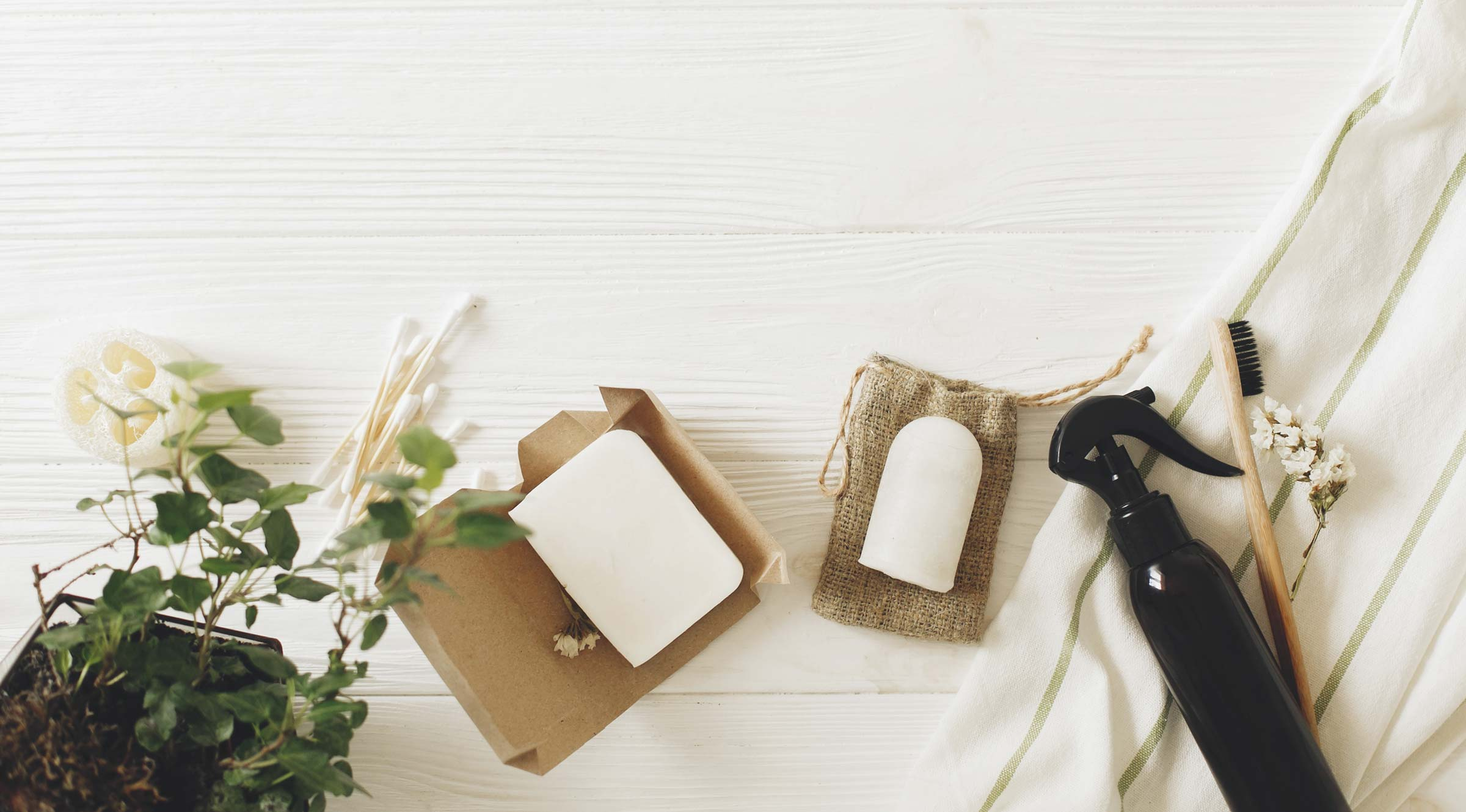 Low Impact Love - eco friendly products flat lay