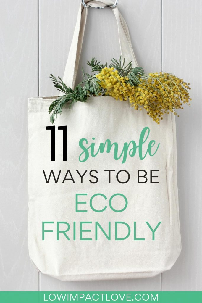 11 Simple Ways to be Eco Friendly - white shopping bag with yellow flowers