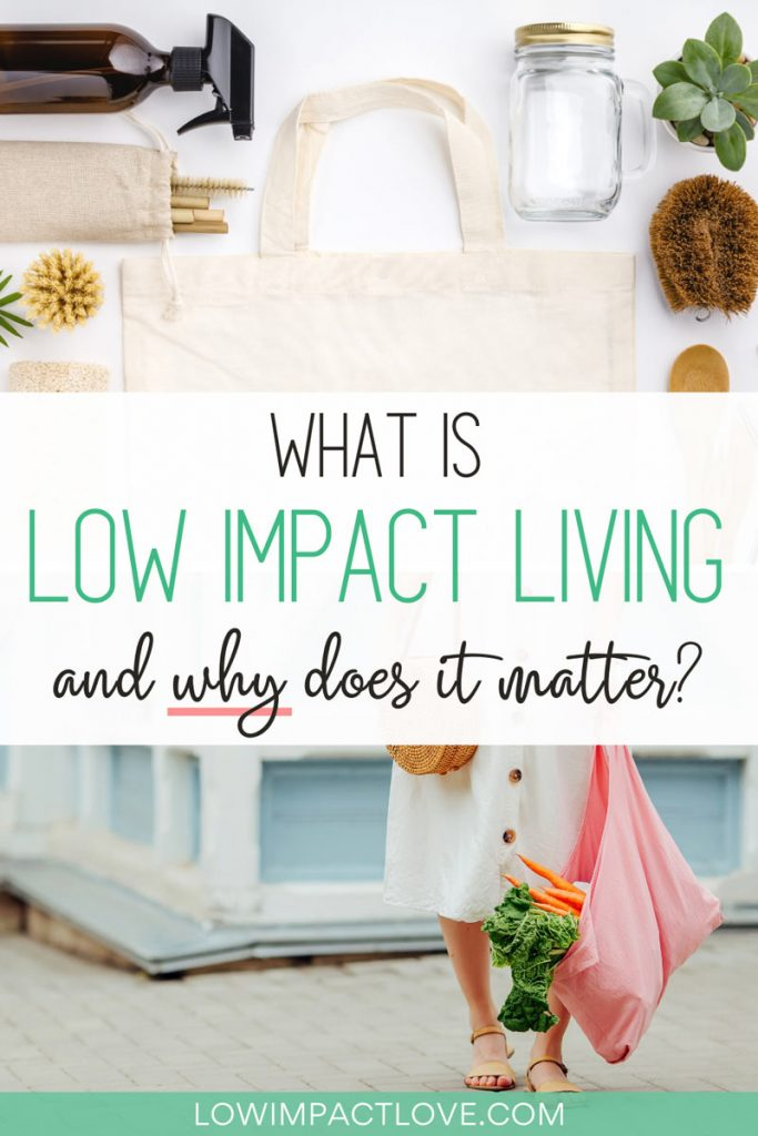 What is Low Impact Living and Why Does it Matter? - reusable containers and woman holding pink tote bag
