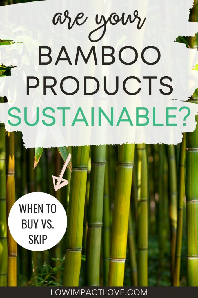 Are your bamboo products sustainable? green bamboo stalks in forest