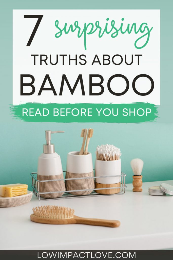 7 surprising truths about bamboo - read before you buy - bathroom counter with sustainable bamboo products